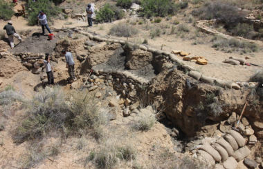 Major erosion control activity in the Hopi Reservation, on the 1st Mesa